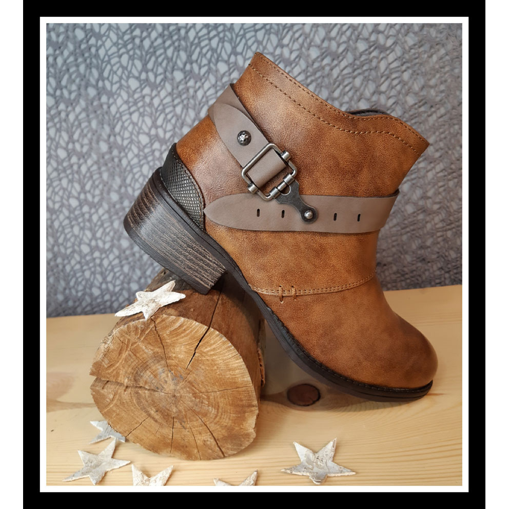 Bottines Sandra Camel